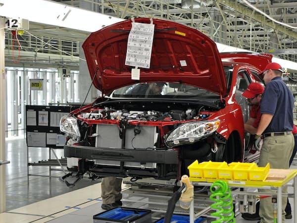 小型車「カローラ」はミシシッピ州の工場で生産を続ける(トヨタのミシシッピ工場)