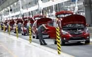 ビングループは自動車産業に参入したばかり(6月、北部ハイフォン市)=ロイター