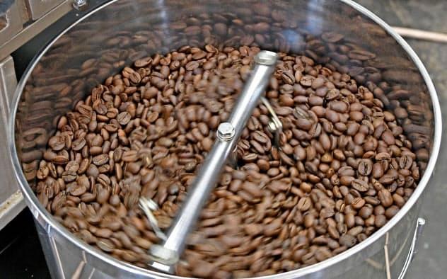 コーヒーの生豆の良さを最大限引き出すため焙煎技術を磨く