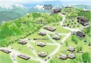 岩岳山頂改装のイメージ図