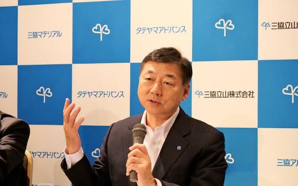 山下社長は国際事業の早期黒字化を課題にあげた