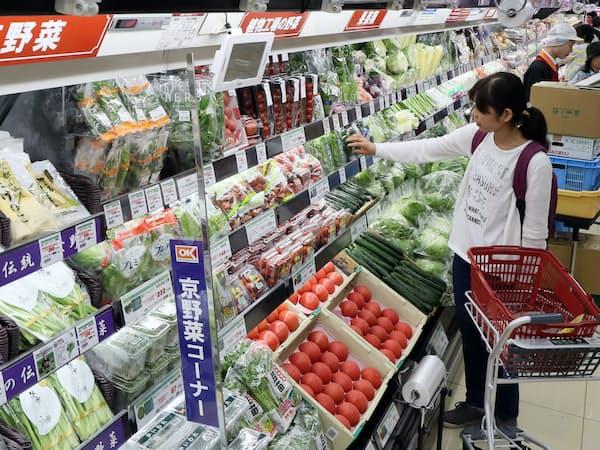 東京都内のスーパーの食品売り場