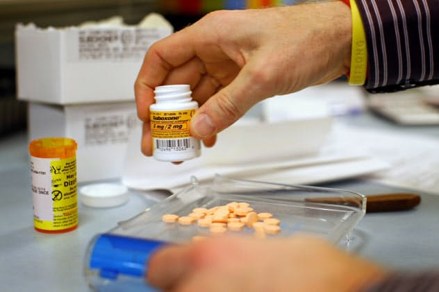 米国でメーカーの販売拡大手法が問題視されたオピオイド中毒治療薬「サボキソン」(=ロイター)