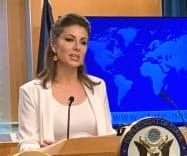 11日、オルタガス米国務省報道官は中東地域での航行の自由を守るため同盟国と協力していくと強調した(ワシントン)