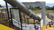 生駒山上遊園地のチューブ形滑り台(6日、奈良県生駒市、近鉄提供)=共同