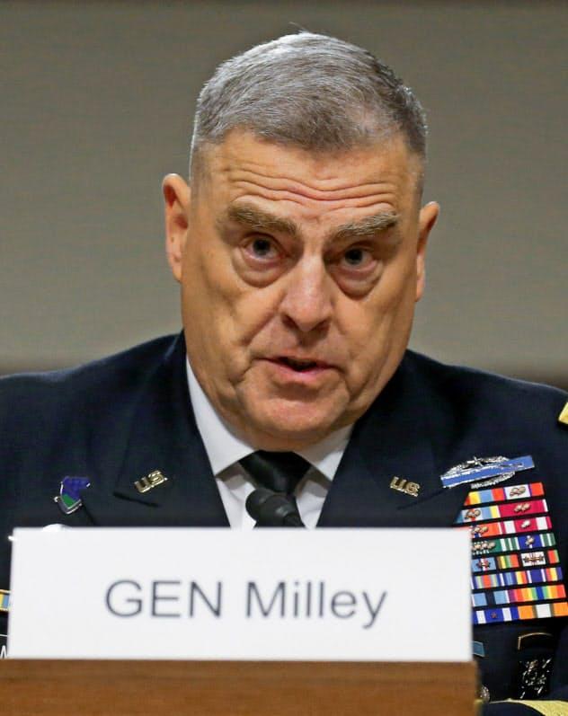 米議会での証言に臨んだマーク・ミリー陸軍参謀総長(写真はロイター)