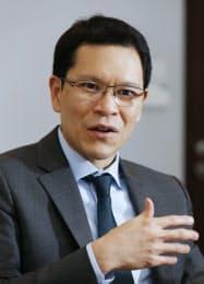 タイ中央銀行のウィーラタイ・サンティプラポップ総裁=写真 沢井慎也    Veerathai Santiprabhob,governor of Bank of Thailand(Photo by Shinya Sawai)