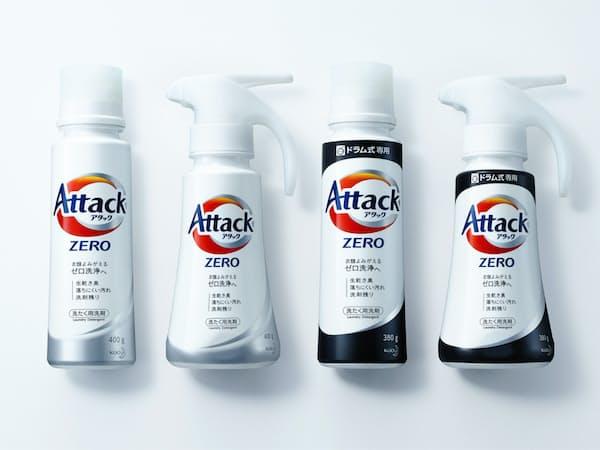 花王の開発した「アタックZERO」は複数の独自技術を組み合わせて機能性を高めた。