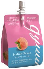 ブルボンのゼリー飲料「ぎゅっ」シリーズのイタリアンピーチ味
