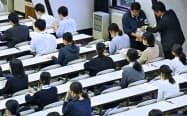 2018年11月に行われた大学入学共通テストの試行調査(東京都目黒区の東京大学)