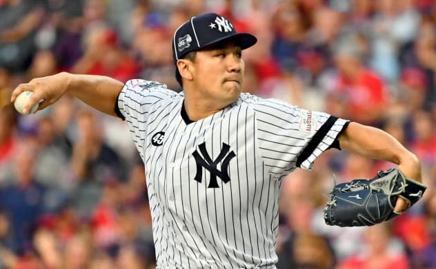 田中は1回無失点と好投し、オールスターゲームで日本投手として初めて勝ち星をあげた=ロイター