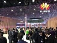 欧州はファーウェイにとって海外で最大の市場にあたる(2月、スペインでの展示会)
