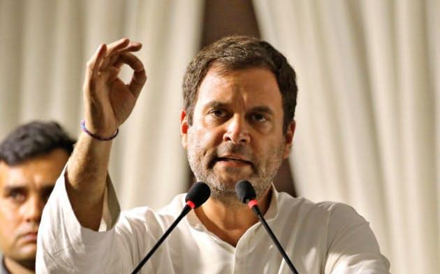 総選挙での2度目の敗北の責任をとって3日、国民会議派の総裁を辞任したラフル・ガンジー氏=ロイター
