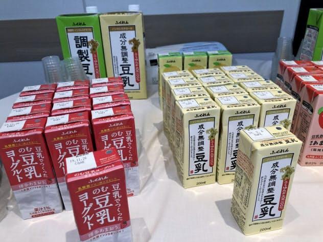 豆乳市場は拡大している(17日、東京都千代田区)