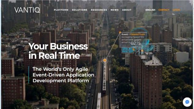 ソフトバンクが出資した米バンティックのホームページ