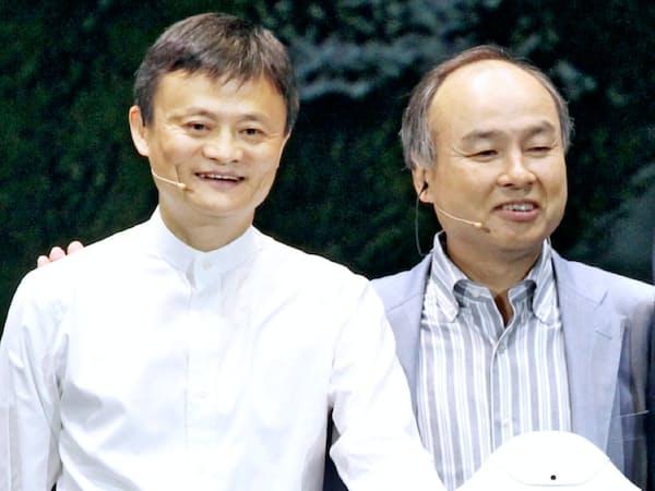 ソフトバンクGの孫社長とアリババ創業者のジャック・マー氏は「盟友」と言える関係