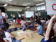 長野市はごみ発電に関する環境教育を初めて実施した(17日、長野市)