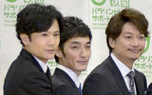 「SMAP」の元メンバー(左から)稲垣吾郎さん、草彅剛さん、香取慎吾さん