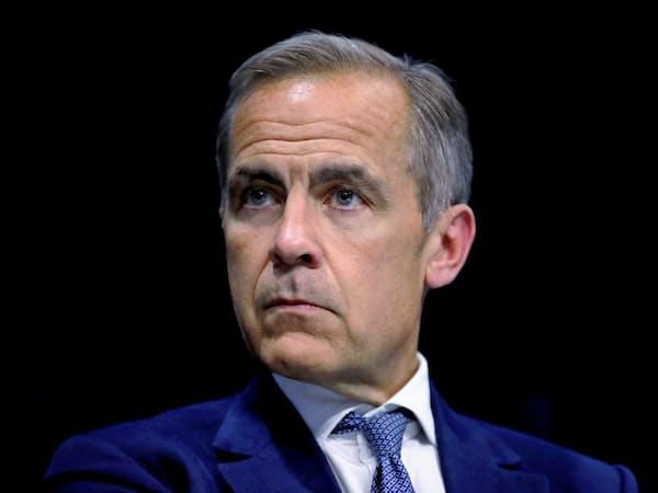 イングランド銀行(英中央銀行)のマーク・カーニー総裁(7月16日、パリ)=ロイター