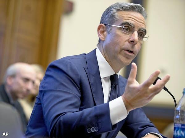 米下院公聴会で証言する「リブラ」を担当するフェイスブック幹部のデビッド・マーカス氏(17日、ワシントン)=AP