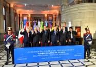 メルコスル首脳会議に参加した各国首脳(17日、サンタフェ)