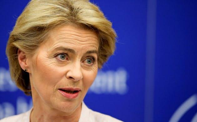 次期欧州委員長に予定されるフォンデアライエン独国防相=ロイター