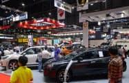 タイの国内販売向けの自動車生産は減速が目立つ(3月、バンコク国際モーターショー)