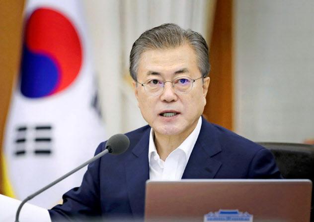 韓国の文在寅大統領=韓国大統領府提供・共同