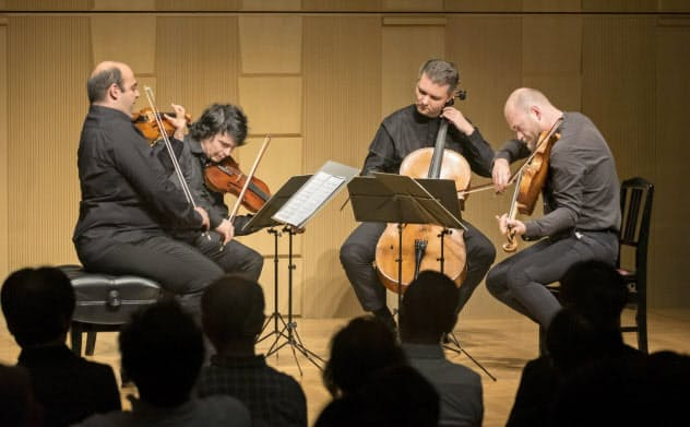5月の公演に出演した「アルカディア・クァルテット」=日本室内楽振興財団提供
