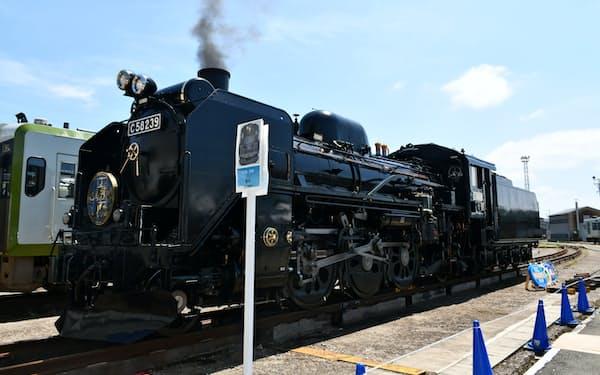 SL銀河をけん引する蒸気機関車「C58」