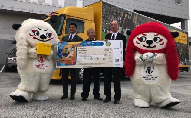 主に欧米に向けてチケットを発送、航空輸送で主要都市に48時間以内に届ける(DHLの東京ゲートウェイ)