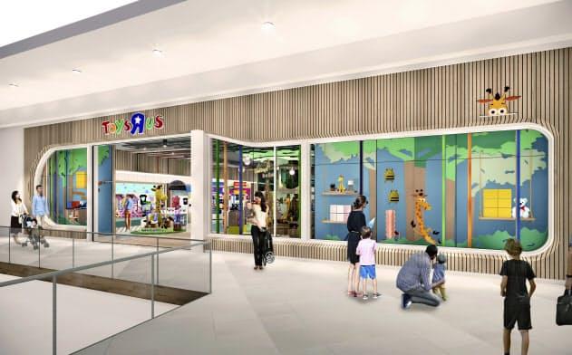 新しいトイザラス店舗のイメージ(同社提供)=AP