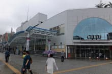 相模原駅の南口には商業施設があるが、北口は再開発が進んでいない(相模原市)