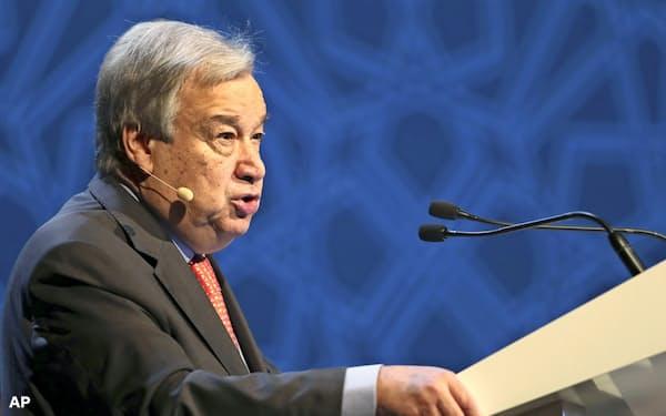国連のグテレス事務総長は京都アニメの放火事件に対し哀悼の意を表明した=AP