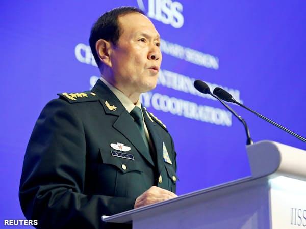 中国の魏鳳和国防相=ロイター