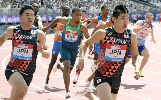 男子400リレー、日本37秒78で2位 陸上ダイヤモンドL