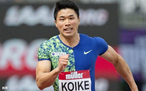 男子200メートル 20秒24で4位だった小池祐貴(21日、ロンドン)=共同