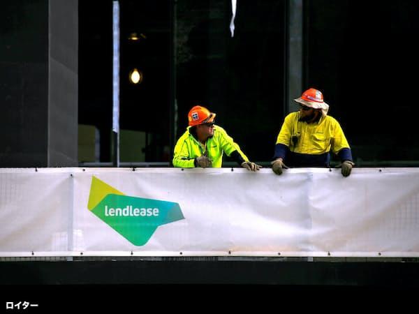シドニーの建設現場で作業するレンドリースの労働者=ロイター