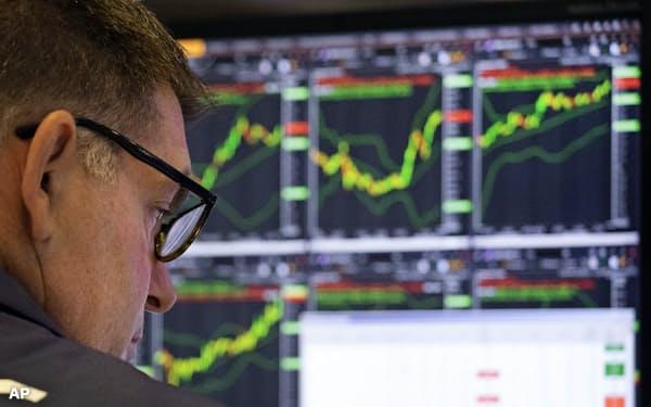 米株価は好調な企業利益を背景に上昇してきたが、環境は変質しており、もはやこれまでのような利益率拡大は期待できないという=AP