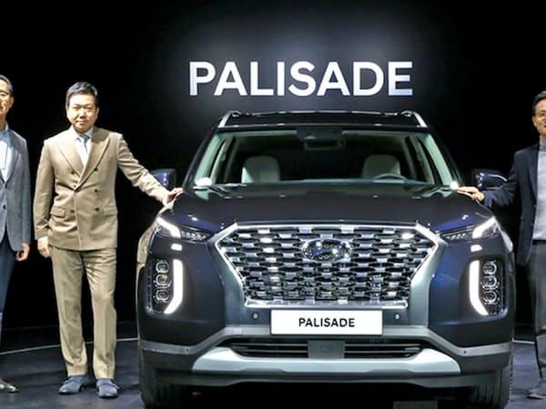 22日、現代自動車の幹部は「今後もSUVの新車を商品群に加え成長を維持する」と述べた(写真は大型SUV「パリセード」)