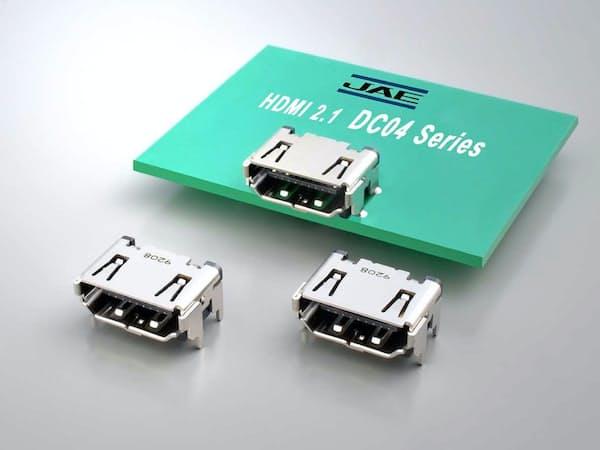 日本航空電子工業が開発したHDMI準拠のコネクター