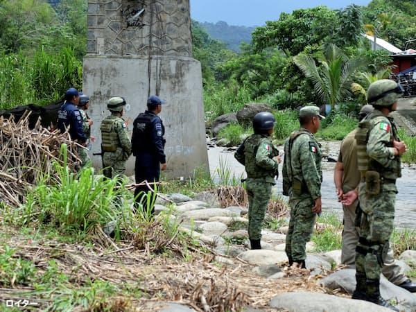 メキシコは南北国境で警備を強化している(メキシコ南東部のチアパス州)=ロイター