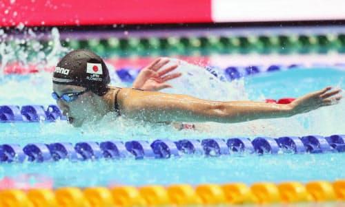 女子200メートル個人メドレーで5位となった大本(22日、光州)=山本博文撮影