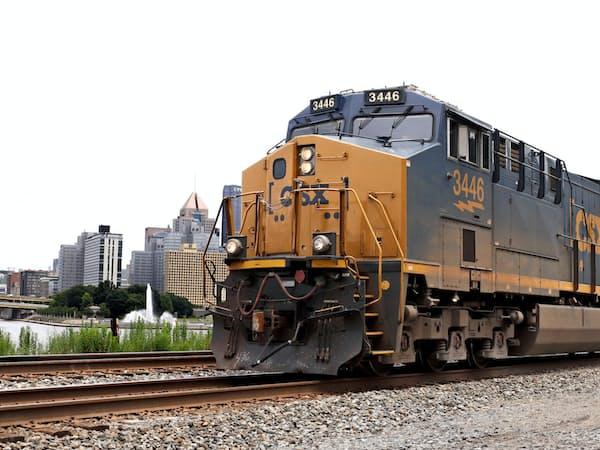 米鉄道大手CSXは失望決算を発表=AP