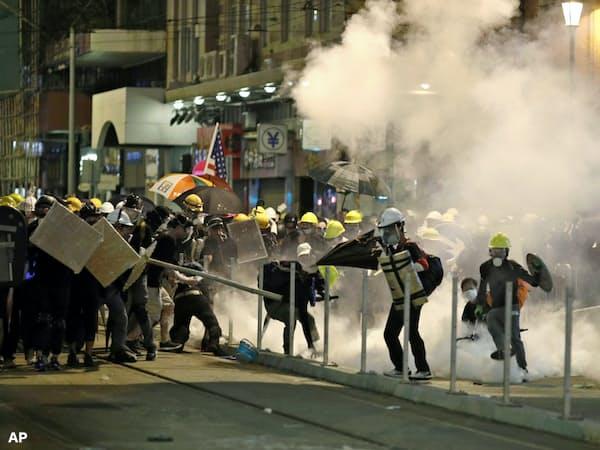 香港市民によるデモは長期化している(写真はAP)