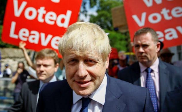 英保守党党首選で優位のジョンソン前外相=ロイター