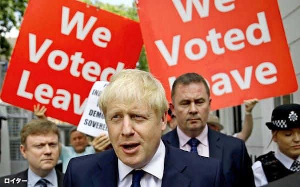 ジョンソン氏は「10月末のEU離脱」を追求する(22日、ロンドン)=ロイター