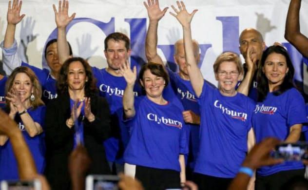 大統領を目指す6人の民主党女性候補たち=ロイター