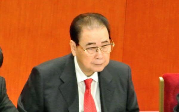 22日に死去した保守派の重鎮、李鵬元首相(2012年11月の共産党大会で)