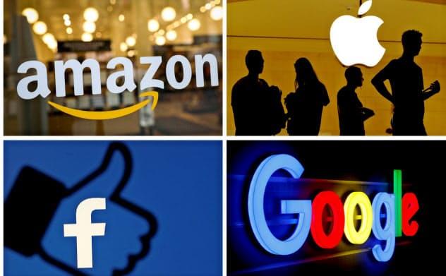 米当局はGAFA(グーグル、アップル、フェイスブック、アマゾン・ドット・コム)と呼ばれるIT企業を調査する=ロイター